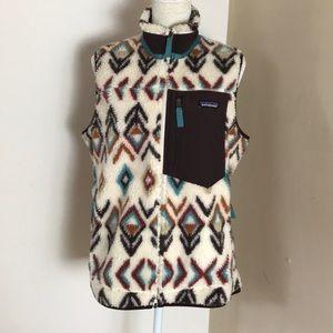 patagonia• classic retro x fleece vest aztec print